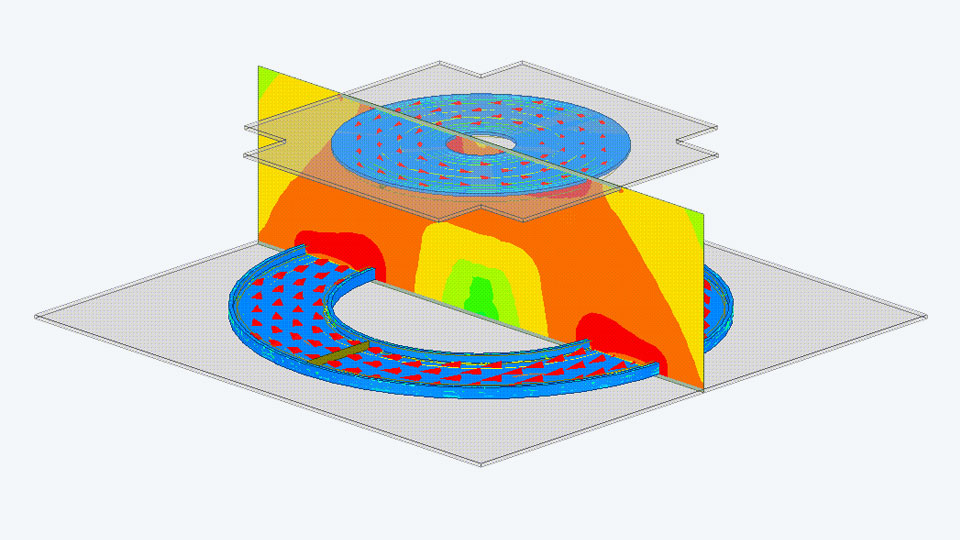 Simulation of inductive charging
