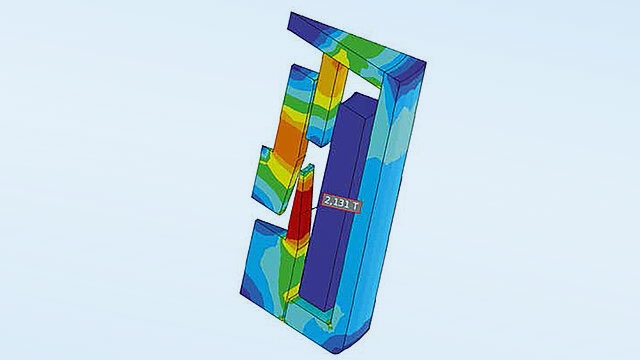 Simulation of the resultant force on the armature of a solenoid valve with ANSYS AIM