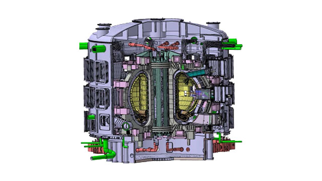 Electromagnetic simulation in a thermonuclear test reactor