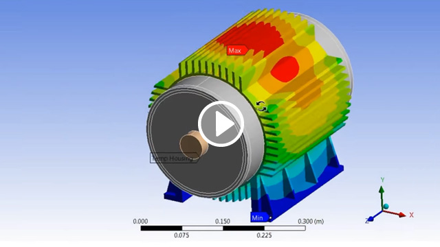 [Translate to German:] ANSYS Multiphysics design workflow for e-motors