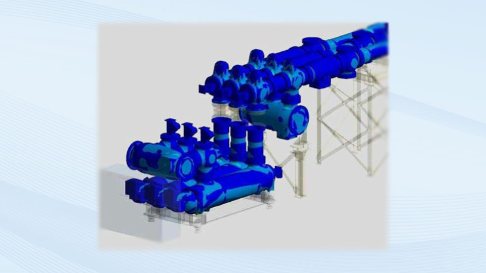 Ansys Model of gas-insulated high voltage switchgear.
