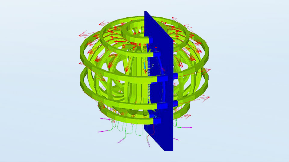 Electromagnetic model of super-conducting coil system