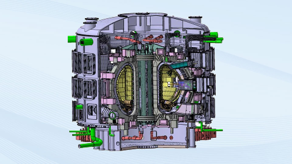 Sectional view of ITER fusion reactor