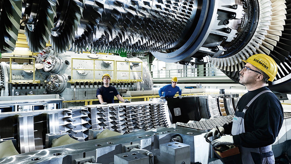 Modern, highly efficient gas turbines are high-tech products for power generation.
