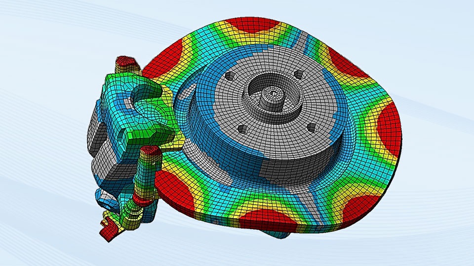 Simulation of a brake, TRW Automotive, CADFEM