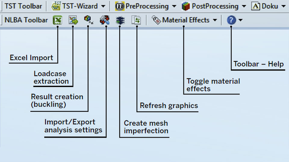 Toolbar for automated simulation