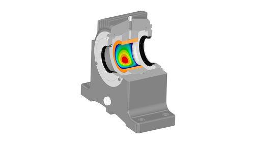 Simulation von hydrodynamischen Gleitlagern mit Tribo-X inside ANSYS